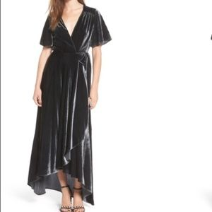 Privacy Please Crushed Velvet Wrap Maxi Dress